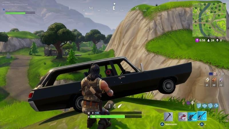 Les véhicules dans Fortnite